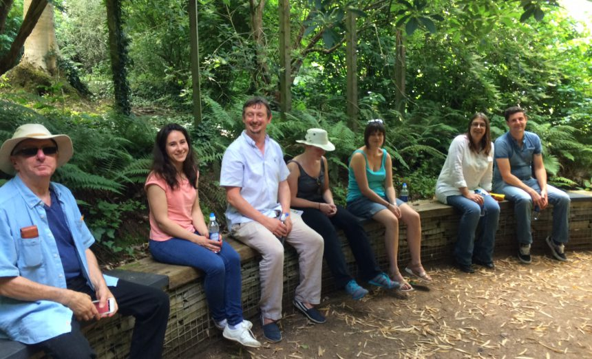 Company team meeting: a trip to the arboretum and nursery